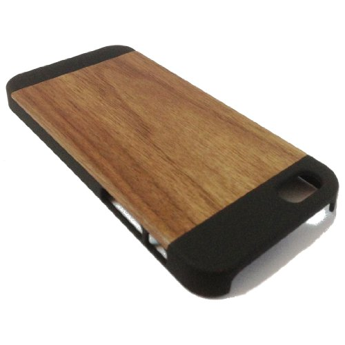 Handcrafted Black Walnut 100% Natural Wood Haut Iphone5s Fall-Abdeckung Iphone5 Holz Skins Test