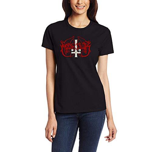 DAXIANIU Damen T-Shirts Marduk Logo 01 Cotton T-Shirts Black
