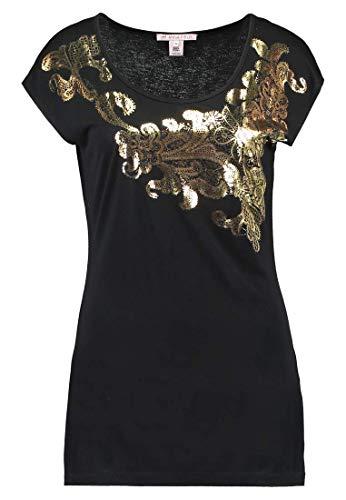 Anna Field Blusa de Mujer - Top Estampado - Camiseta con Cuello Redond