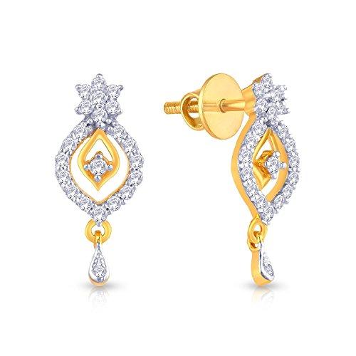 82718b4b9 Malabar Gold And Diamonds 22KT Yellow Gold Drop Earrings For Women ...