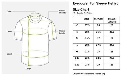 EYEBOGLER Seven Rocks Regular Fit Men's Cotton T-Shirt (M-T16-NBWH, Navy Blue-White, Medium)