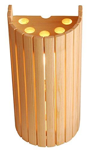 Saunalampe Saunalicht Saunaleuchte Holz Blendschirm Sauna Lampe Lampenschirm