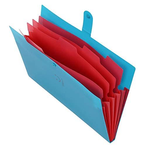 KBWL Hochwertiger Kunststoff Expanding Ordner Akkordeon Dokumententasche Organizer 5-fach A4 Brief Größe Für Schule Bürobedarf Blau (Akkordeon Ordner, Brief)
