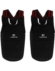 B Baosity 2 Piezas de Chaleco Camiseta de Protección de Columna Vertebral Cuerpo Pecho para Ciclismo, Moto, Taekwondo Kung-fu