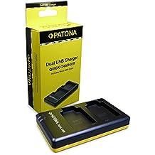 PATONA Cargador de batería doble EN-EL12 para Bateria Nikon CoolPix AW100 AW110 P300 P310 P330 S1100pj S1200pj S31 S610 S6150 S6200 S6300 S640 S70 S710 S8000 S8100 S8200 S9100 S9400 con micro USB