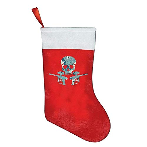 Jack16 Floral Rose Skull Paintball Felt Christmas Stocking Party Accessory weihnachtlicher Strumpf
