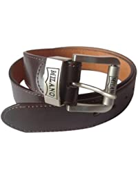 MENS BROWN LEATHER BELT DESIGNED BY MILANO 2753