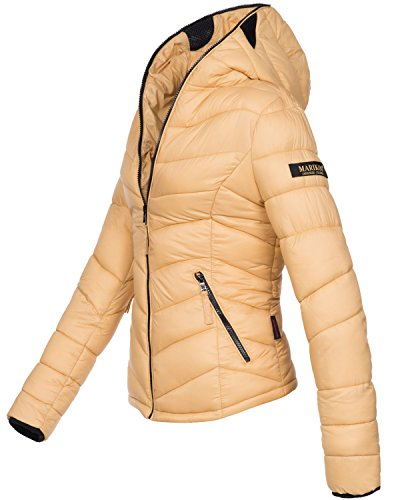 Marikoo Damen Jacke Stepp leichte Herbst Winter Übergangsjacke XS-XXL Beige