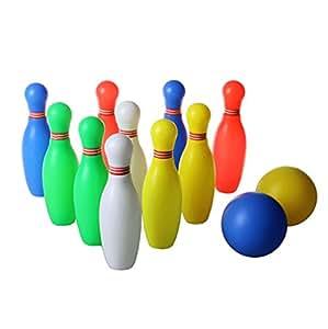YIXIN 10+2 Set Kegel Kugel Bowling kugel pädagogische interaktive Spiel Spielzeug Bowling-Set für Kinder 3 Jahre und Bis