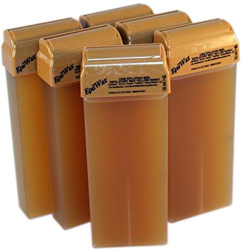 epilwax-sas-lot-de-6-roll-on-de-cire-jetable-miel-pour-epilation-avec-roulette-grand-modele-pour-les