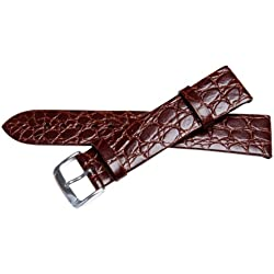 Bernex Sobek L Unisex Brown Leather Buckle Pin of 2.0cm GB42303