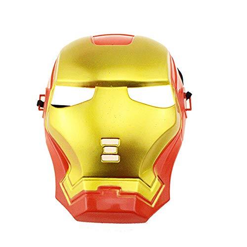 Halloween Plastikmaske, Marvel Hero Maske, Halloween Plastikmaske für Kinder Kinder, Spider Man Hulk Captain America Batman Iron Man Plastikmaske,Ironman