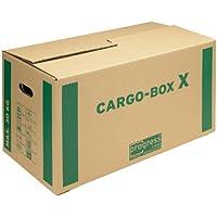 ProgressCargo PC CB01.02 Lot de 10 cartons de déménagement ondulés écologiques Marron 637x340x360 mm