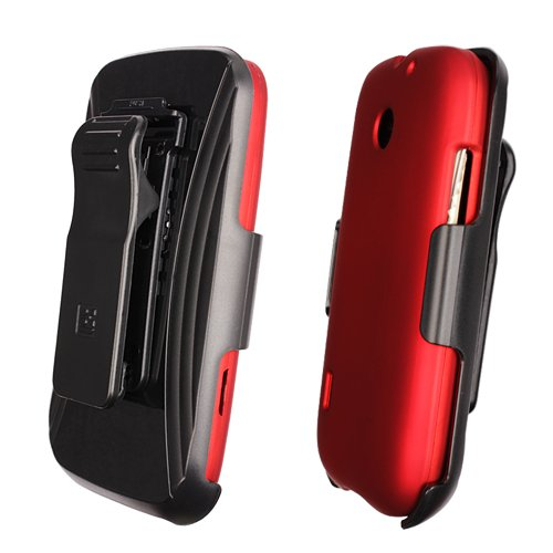 Beyond Cell 3-in-1 Combo Case AT&T Fusion/Huawei U8652, ohne Einzelhandelsverpackung, Rot Att Fusion