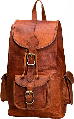 Faux Leder Medium Tote Tasche (Urban Leather Handmade 16 Inch Leather Backpack Rucksack Daypack for short leisure trips, school, college, travel and trips)