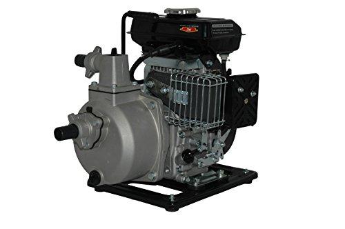 YERD Benzin-Wasserpumpe BW QDZ25-35 (4-Takt Motor, 1,5 PS, 1″ Zoll Anschlüsse) - 3