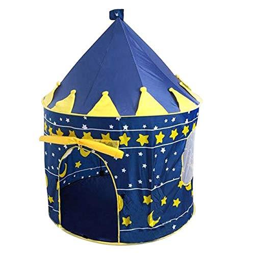 XuBa 3 Farben Spielzelt Tragbare Faltbare Tipi Prinz Faltzelt Kinder Junge Castle Cubby Spielhaus Kinder Geschenke Outdoor Spielzeug Zelte Yellow -