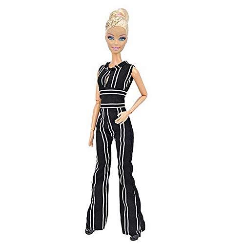 E-TING Handarbeit Fashion Puppenkleider Rock Büro Stil Outfits Kleid für Mädchen Puppen , Striped Jumpsuits Bell-Bottoms , Puppe Nicht Enthalten Bell-bottom-jumpsuit