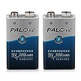 PALO 2 pz/set 6F22 006 p 9 V NI-MH 300 mah Batterie ricaricabili ecologici per giocattoli di allarme ecc