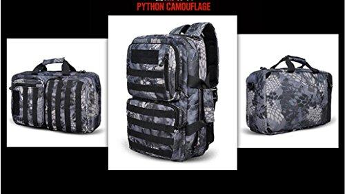 BM Computer studente zaino moda borse borse zaino da viaggio all'aperto , police mang black lines police mang black lines