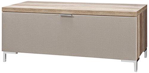 CS Schmalmöbel 45.150.222/010 TV-Board Cleo Typ 10, 109 x 50 x 47 cm, wildeiche mit Stoffklappe