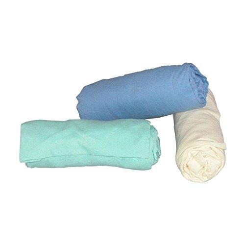 ABB Diffusion Drap housse berceau, en jersey coton extensible, 40 x 80 cm , Coloris Bleu
