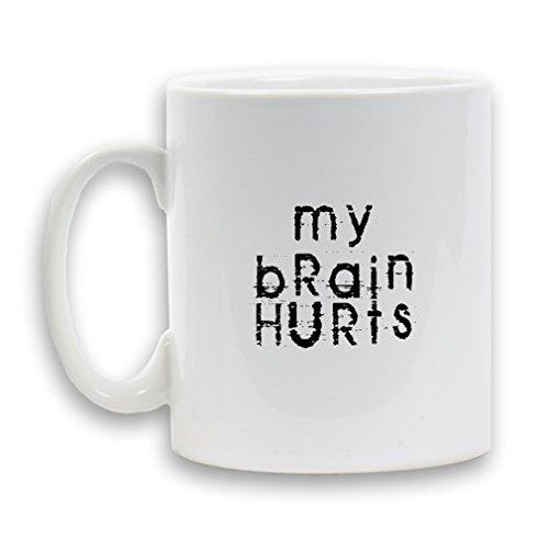 Il mio cervello Hurts Progettato Tazza in ceramica da 325ml Heavy divertente regalo caffè tè, bianco