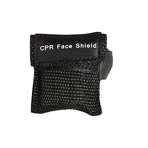 wfz17Erste Hilfe Reanimation Gesichtsmaske Notfall Kit Rescue Face Maske Shield Schlüsselanhänger Mund zu Mund schwarz
