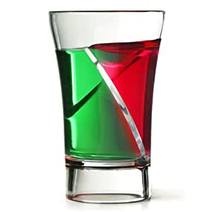 drinkstuff Econ Twister Schnapsglas, 30 ml, Plastik, mit 2