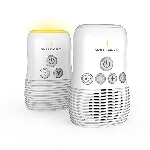 Willcare Baby Monitor,Audi Babyphone mit Dual-Sprechfunktion,Akku,Nachtlicht,Alarm bei schwachen Akku,Verbindungsverlust Signalverlust,wenn außerhalb der Reichweite,Ein-Tasten Ruf-Funktion,Gürtelclip (DBM-NEU)