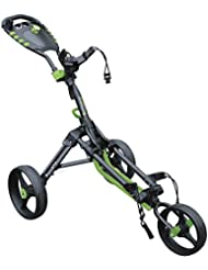 Masters Golf iCart un compacto 3 Rueda Empuje carro, Unisex, iCart One Compact 3 Wheel Push, negro/verde, n/a