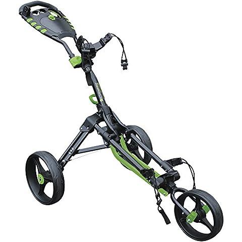 2016 Masters I-Cart One Compact - 3 Wheel Cart Mens Golf Trolley Black/Green