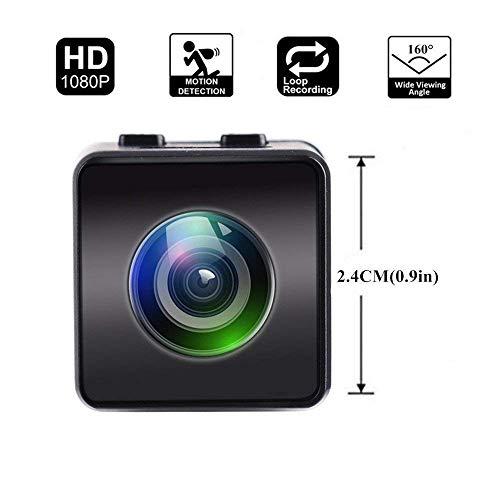 L&WB Minikamera HD 1080P FPV Micro Action Kamera Mini Versteckte Spy Cam mit DVR FOV160 ° (Versteckte Spy-cam Wireless)