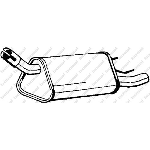 Bosal 185-339 Silencieux arrière