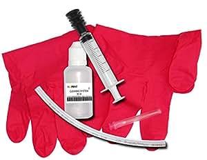Kit di pulizia per testine di stampa a getto d'inchiostro pulito realizzati in Germania con la siringa e l'iniezione soffietto esclusivi ugelli della stampante unclogs
