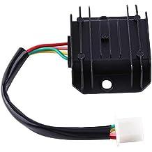Regulador de voltaje de la motocicleta 4 cables 4 pines 12 regulador de voltaje rectificador para