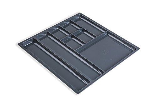 Utensilien Materialschale Schubkasten Fächerschale mit 11 Fächer für Schrankwand-Systeme | 331 x 277 x 18,5 mm | Schubladen-Einsatz zum Organisieren von Kleinteilen | Möbelbeschläge von GedoTec®