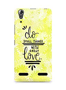 AMEZ do great things with love Back Cover For Lenovo A6000