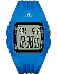 Adidas Unisex Quarzuhr mit blauem Zifferblatt Chronograph-Anzeige und blauem Silikon Armband adp3234