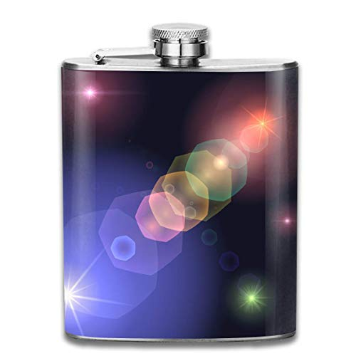 Color Bright Light Bubble Retro Portable 304 Stainless Steel Leak-Proof Alcohol Whiskey Liquor Wine 7OZ Pot Hip Flask Travel Camping Flagon for Man Woman Flask Great Little Gift