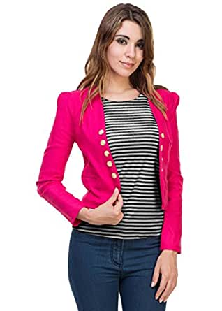 DIMPY GARMENTS Women's Shrug with Top (Newshrug-1062_S, Pink, Small)