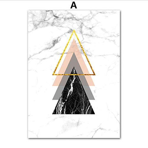 Zxkx Ampersand mármol geométrico Arte Pared Pintura