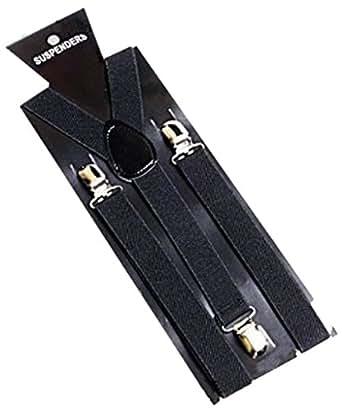 EOZY 1Pcs Bretelle Y Unisexe Jeans Robe Veste 100*2.5cm Noir