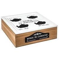 Secret de Gourmet - Boite à thé en bois 9 compartiments