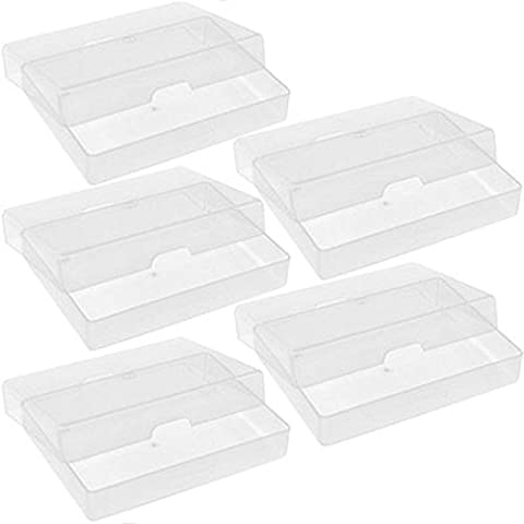 5 X NEW ATC CLEAR PLASTIC STORAGE BOX PLAYING CARDS