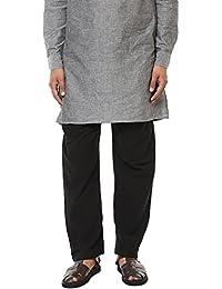 Abhiyuthan Men's Black colour 100% Cotton Aligarhi Pyjama