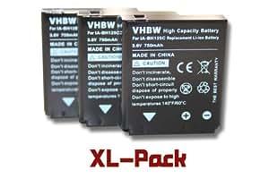 3 x batteria vhbw 750mAh per fotocamera Samsung HMX-R10 Pentax Optio X90 Sigma DP1 DP2 DP3 Merrill Kodak PIXPRO SP1 PIXPRO SP1 HD SP1-YL3