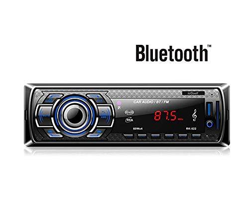 ieGeek MP3 Autoradio Bluetooth, USB con ricevitore audio/lettore MP3/radio FM da controllo Samsung/Huawei/iPhone, vivavoce USB/SD/AUX e microfono incorporato