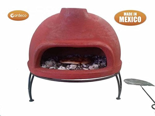 Classic Garden Barbecue Wood Fired Table Top Pizza Oven With Metal Stand