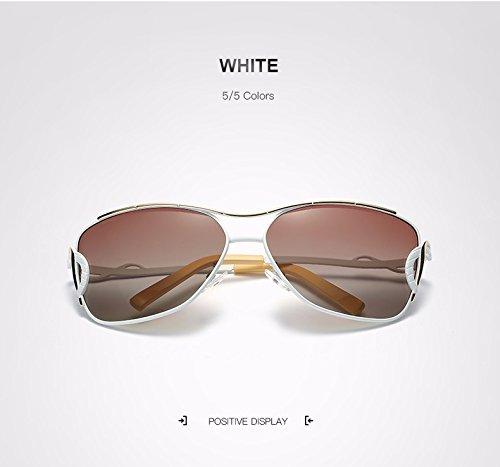 Man&Y Erwachsene Sonnenbrille, Cat Eye Sonnenbrille Metallrahmen Fahren Brille Mode Sonnenbrillen Vintage Große Sonne Polaroid Sonnenbrille Brille UV400 Spiegel Für Frau (Color : White)